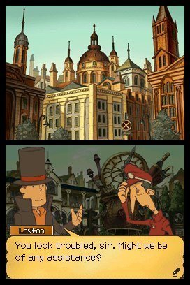 Professor Layton und die verlorene Zukunft - Screenshot