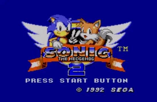 Startbildschirm von Sonic the Hedgehog 2