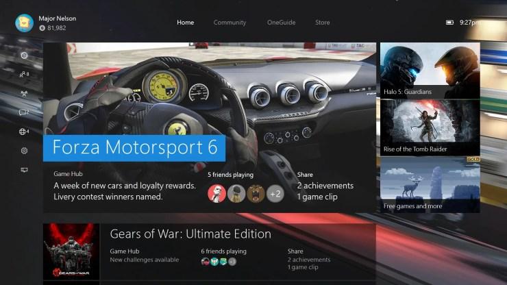 Xbox One Dashboard - November 2015