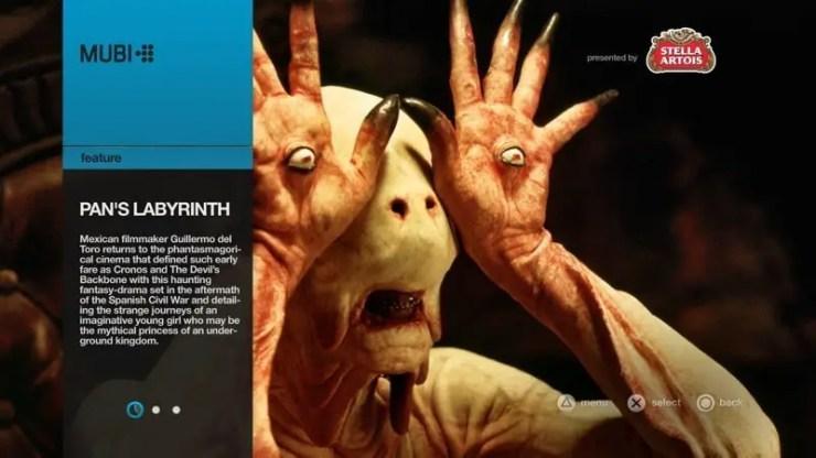 MUBI auf der PS3 - Infoseite zu einem Film