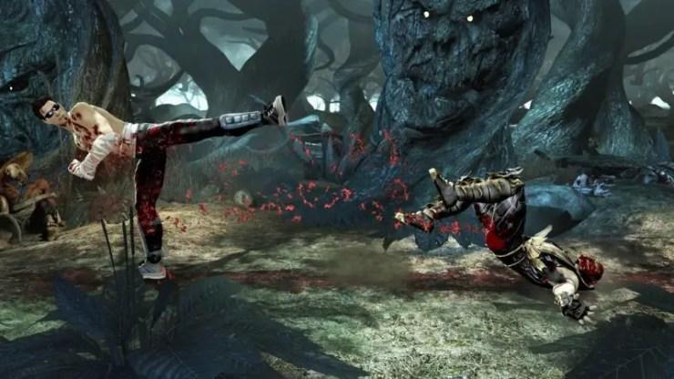 Mortal Kombat - Cage tritt Scorpion