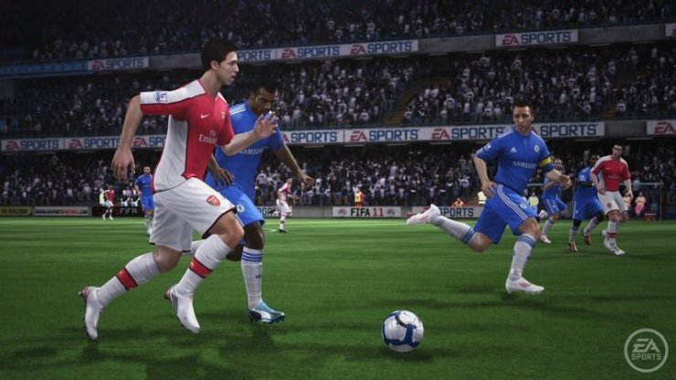 FIFA 11 - Nasri im Laufduell