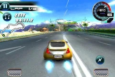 Screenshot von Asphalt 5 auf dem iPhone