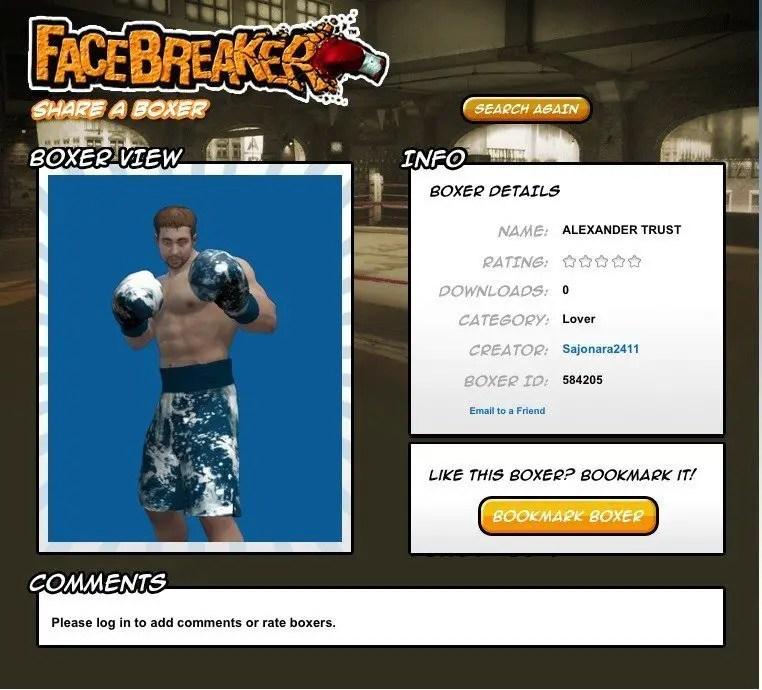 Mein Profilboxer bei Facebreaker