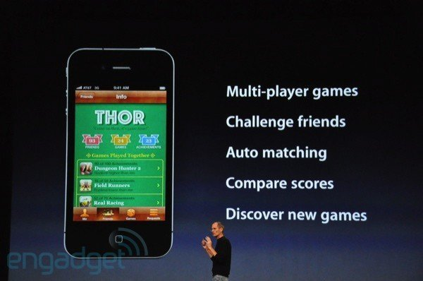 Game Center, Foto: engadget