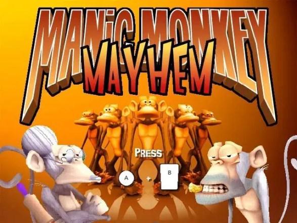 Manic Monkey Mayhem - Startbildschirm
