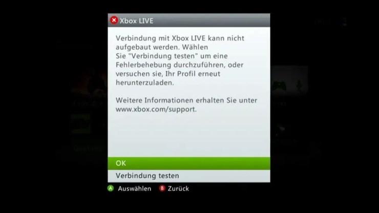 Xbox Live: Probleme beim Login am 6. Juli 2012