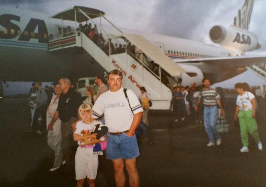 Ankunft in Kenia, mit meinem Papa.