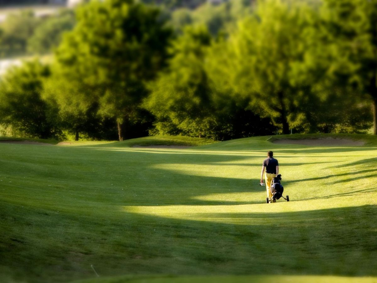 Passeggiata sul campo da golf