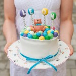 Baby Boy Cake: Teddy Bear and Balloons