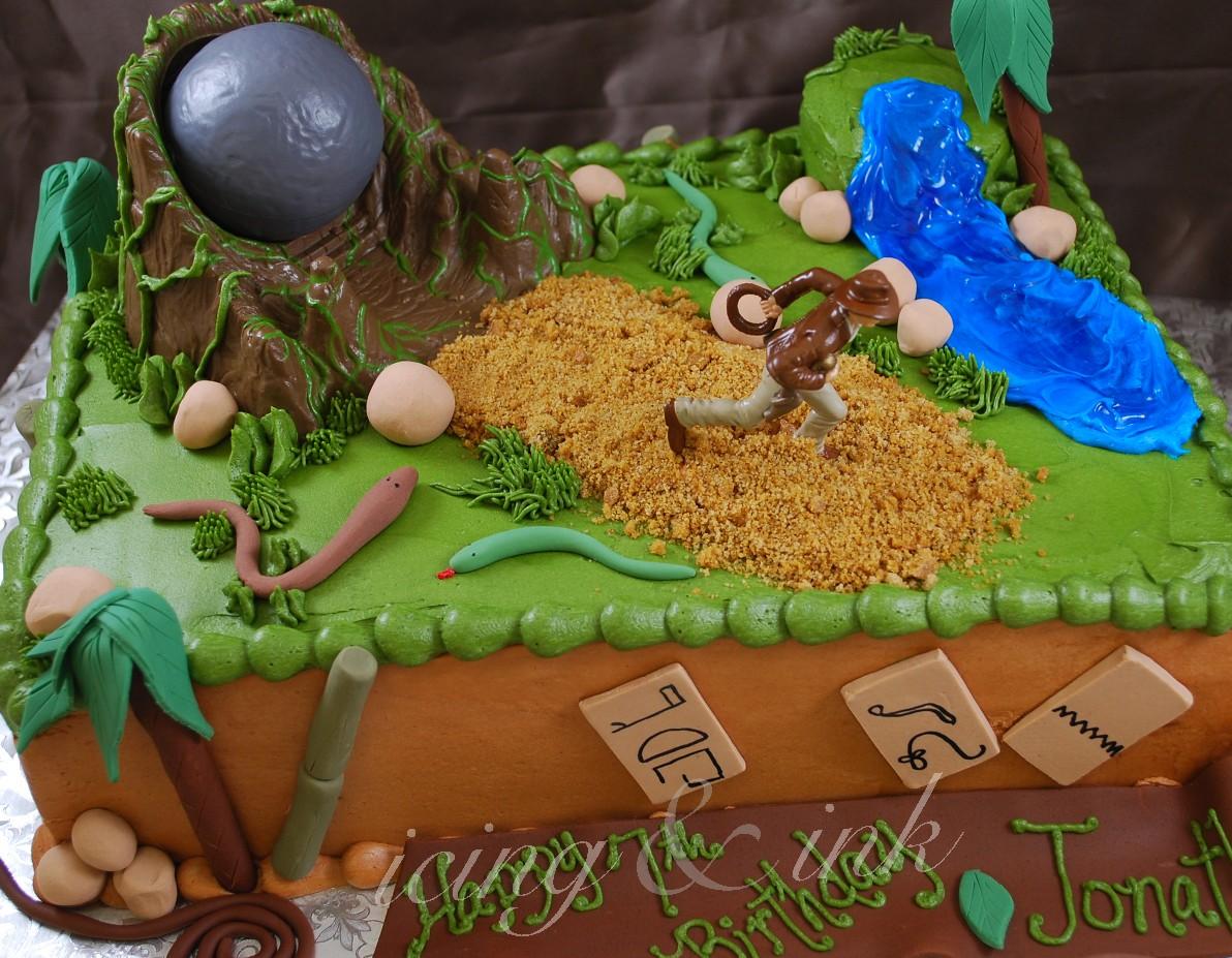 Fabulous Indiana Jones Cake Icing And Ink Blog Funny Birthday Cards Online Inifodamsfinfo