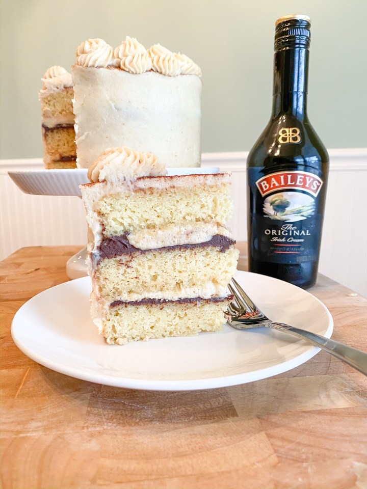 Baileys Irish Cream Cake with Baileys Espresso Buttercream