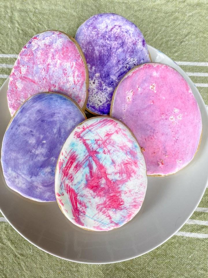 Easy Watercolor Sugar Cookies