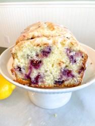 Lemon blueberry quick bread