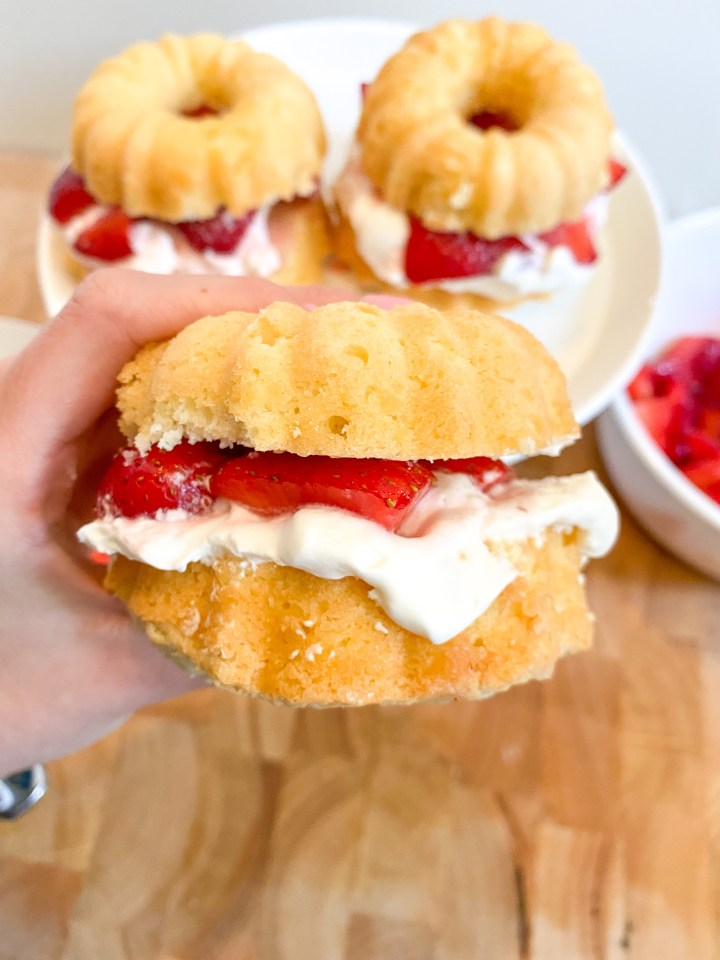 Strawberry Shortcake Bundt Cakes