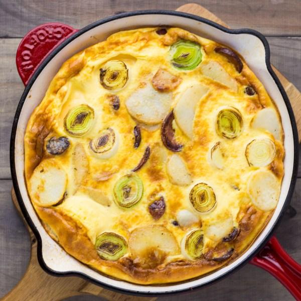 Chorizo, Potato & Leek Frittata