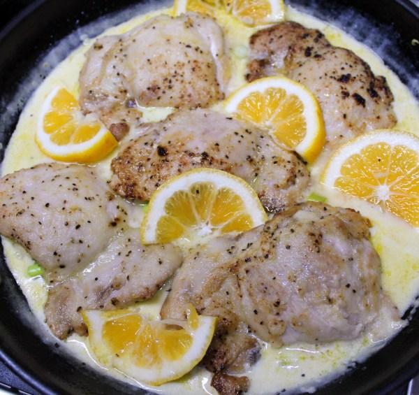 Creamy Lemon Pepper & Garlic Chicken