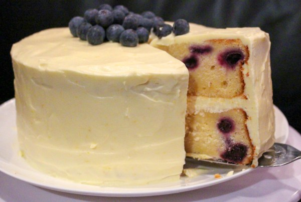 Lemon & Blueberry Cake With Lemon Cream Cheese Icing