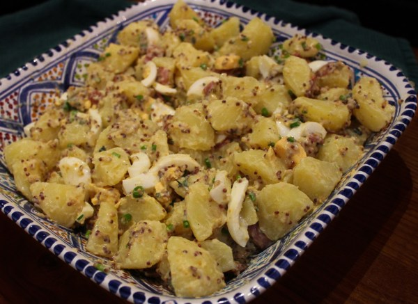 Potato Salad With Bacon & Herb Mustard Dressing