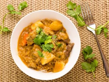 Massaman Beef Curry With Coconut Sambal