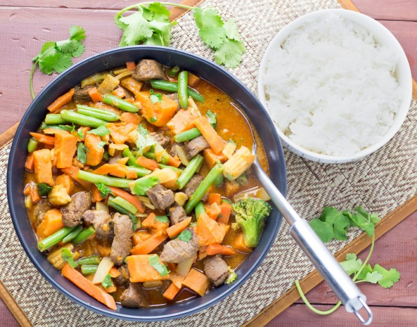 Thai Beef & Sweet Potato Red Curry