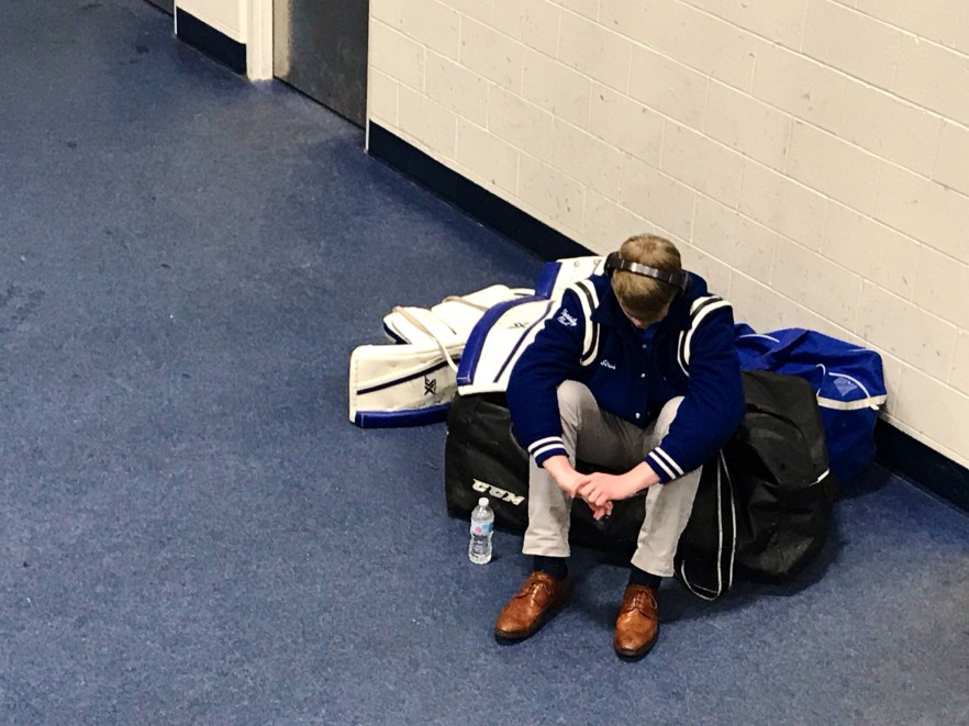 fd05c2577a1 Stroh prepares for the Vikings  regional game against Skaneateles. (Photo  by Melissa Brawdy)