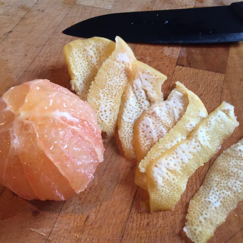Purée carotte pamplemousse