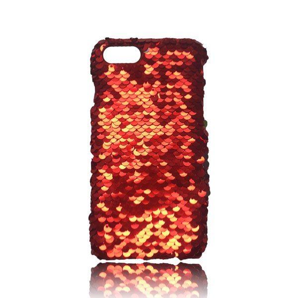 Sequin Flip Case - Red - iPhone 8 Plus / 7 Plus / 6S Plus / 6 Plus 1