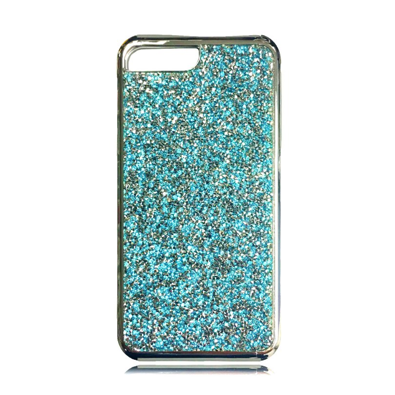 Dual Layer Glitter and Rubber Case BLUE - iPhone X / XS 1