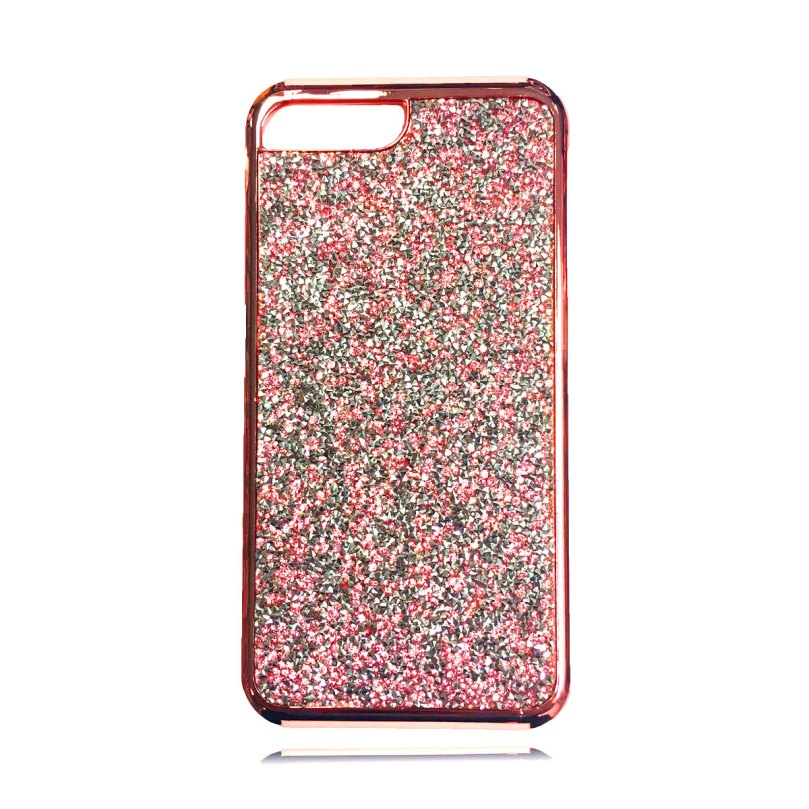 Dual Layer Glitter and Rubber Case PINK - iPhone X / XS 1