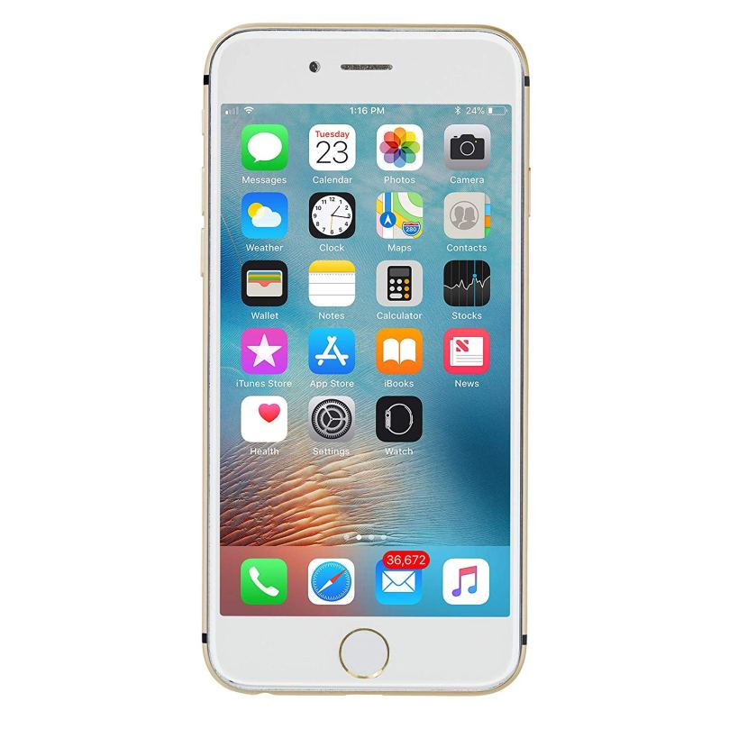 iPhone 6 - 128GB Fully Unlocked - Gold (Renewed) 1