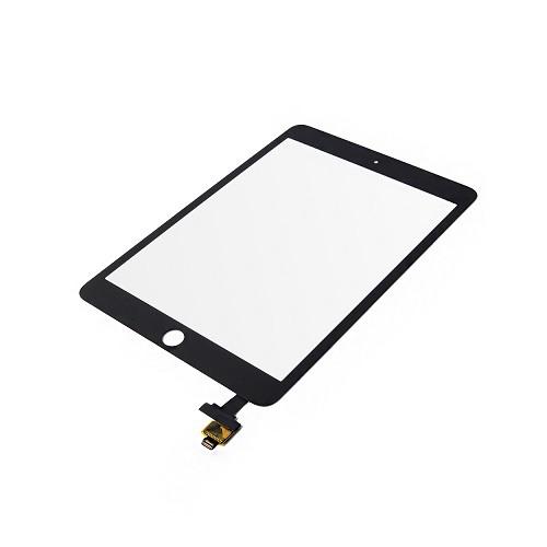 Touch Screen Digitizer Glass + IC Board Flex Connector Black for iPad Mini 3 1