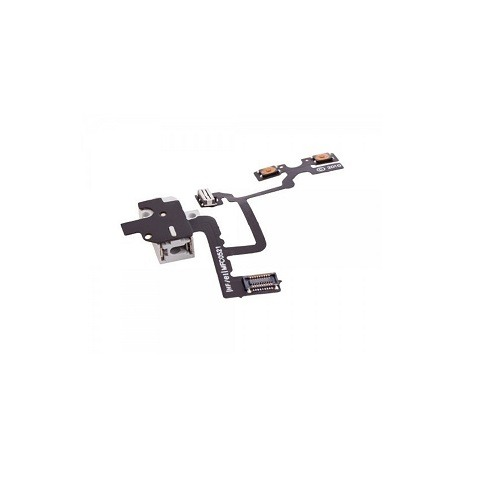 iPhone 4 GSM Volume Control Headphone Jack Replacement Flex Cable WHITE 1