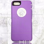Picture of Defender Hybrid Case w/Clip (Purple/White) - iPhone 7