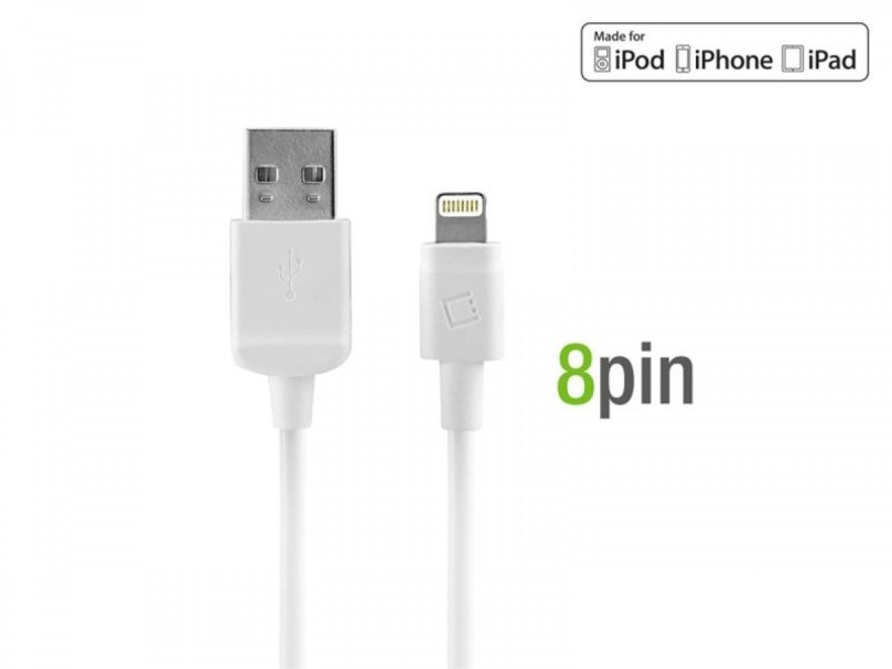 Picture of Cellet 4 ft Lightning Cable + Home Charger (White)
