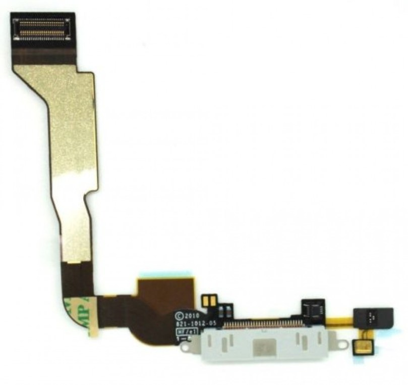 iPhone 4 GSM Charging Port Dock Mic Flex Cable Replacement Part White 1