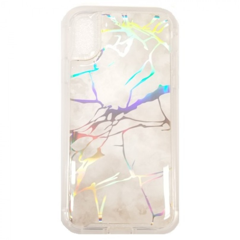 iPhone X/XS Marble Stone Pattern Case WHITE 1