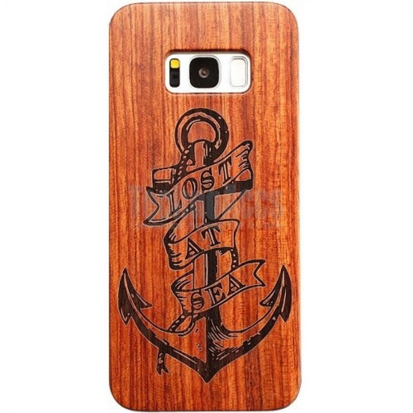 Anchor Design Wood Case For Samsung S9 1