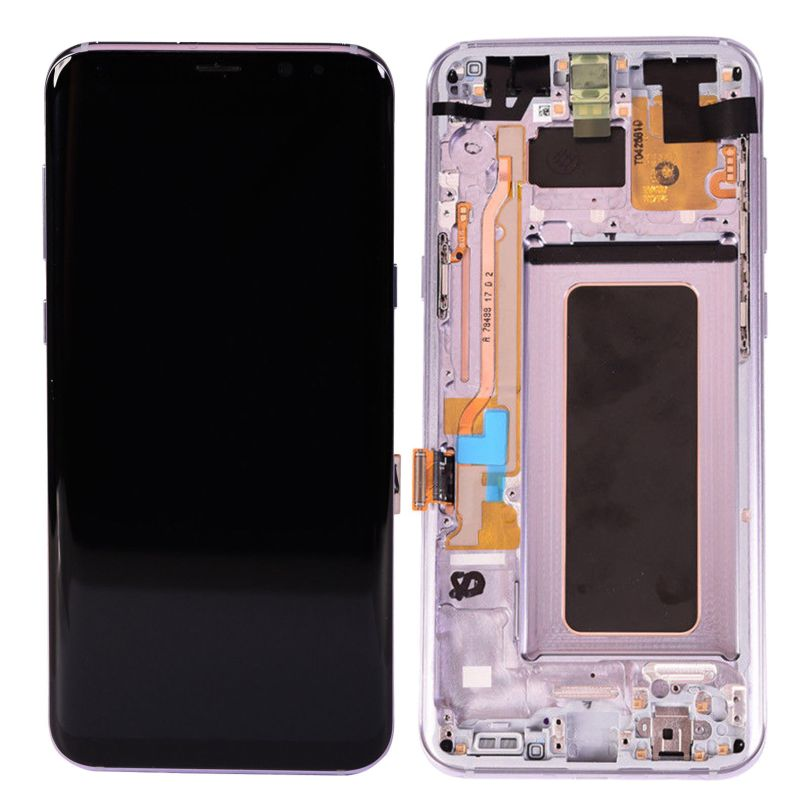 AMOLED Display Touch Screen Digitizer Frame Gray For Samsung Galaxy S8 1