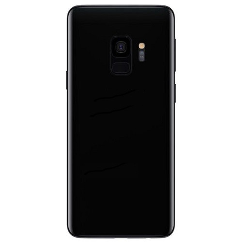 Back Cover Glass Battery Door Camera Lens   Adhesive Black for Samsung Galaxy S9 1