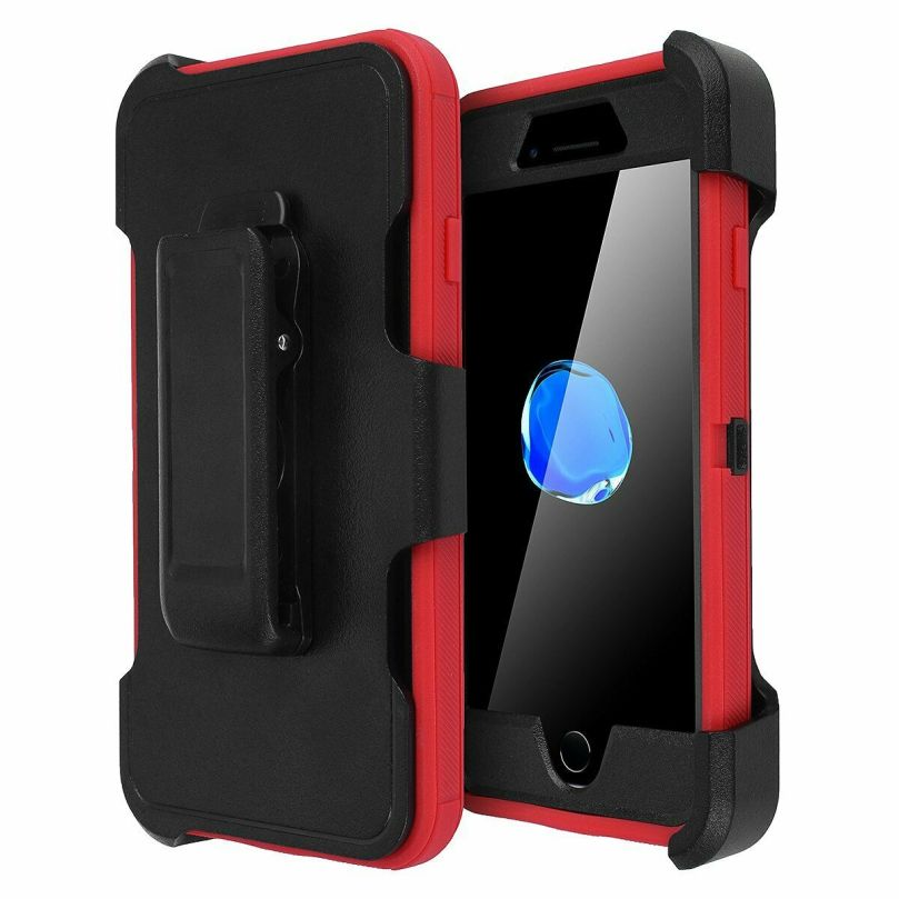 iPhone 6/6s Heavy Duty Case w/Clip RED/BLACK 3
