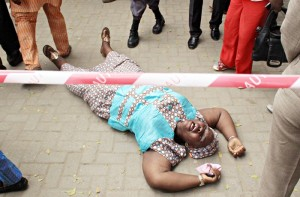 A relative of MIC Casket  Director, Mr. Tunji Okusanya reacts on hearing of his death in the crash.