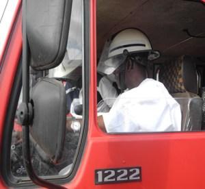 Al-Makura in Fire truck