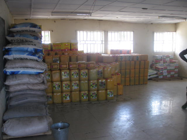 Food items in one of the IDPs camps in Maiduguri, Borno state capital. Photo: icirnigeria.org