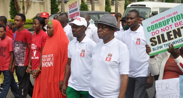 EFCC Chairman, Ibrahim Magu and other walking to the Eagle Square