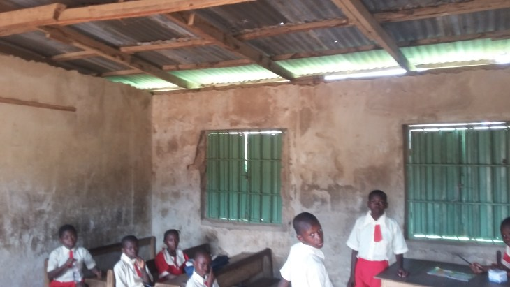 A sneaked shot of a classroom in Greater Height school