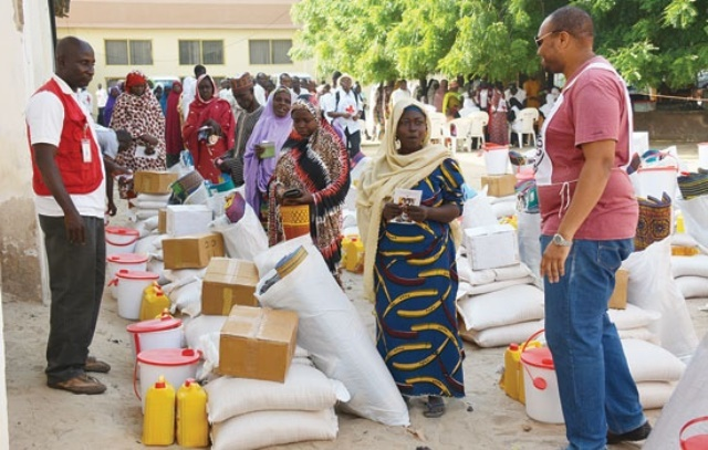 File: Donations to IDPs