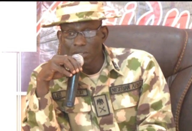 Commander, Operation Lafiya Dole, Maj. Gen. Lucky Irabor