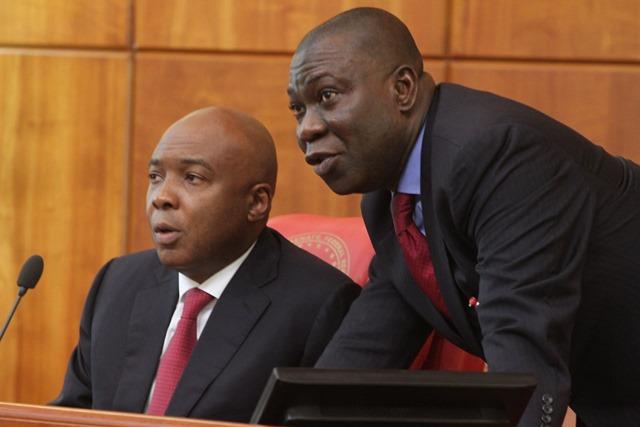 Senate President Bukola Saraki and his deputy, Ike Ekweremadu