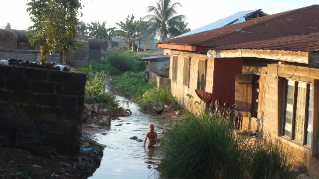 Building along drainage Channels, Calabar